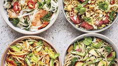 The Noodle Salads We're Bringing to Every Summer Party These pasta salad recipes are so good, you Healthy Pastas, Healthy Chicken Recipes, Vegetarian Recipes, Salad Recipes Video, Pasta Salad Recipes, Tortellini, Sin Gluten, Gluten Free, Quinoa