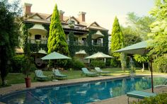 The Oliver's Restaurant & Lodge is situated on the White River Golf Course, among the lush forests and rolling hills of Mpumalanga in South Africa. Romantic Weekend Getaways, Lodges, South Africa, Mansions, House Styles, World, Outdoor Decor, Cellar, Wines