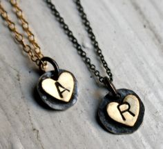Initial heart necklace. I want one with a J. :)