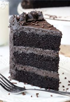 Best Chocolate Cake - incredibly moist and chocolatey!~~The cake turned out great. I used cream cheese frosting though.