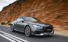 Download wallpapers Audi TT RS, 4k, road, 2017 cars, Audi Sport, supercars, Audi