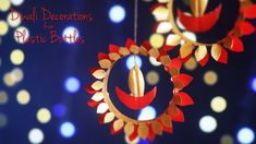 Learn how to make diwali decorations from plastic bottles. Don't just throw away those empty soda bottles in your home. Diwali Party, Diwali Diy, Diwali Craft, Diy Diwali Decorations, Thanksgiving Decorations, Wedding Decorations, Christmas Decorations, Use Of Plastic, Recycle Plastic Bottles