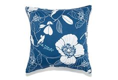 Jiti 20x20 Poppy Outdoor Pillow, Blue on OneKingsLane.com $55