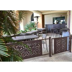 Panneau star anais de 4 pi x 2 pi Vinyl Fence Panels, Privacy Panels, Front Porch Railings, Deck Railings, Outdoor Rooms, Outdoor Living, Outdoor Decor, Outdoor Ideas, Timber Slats