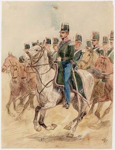 Dutch; 5th Regiment of Drgoons of the Limbourg Bondscontingent, 1855-67 by Willem Constantijn Staring