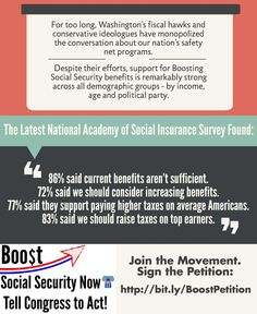 """The movement to Boost #SocialSecurity is growing. You can join it by signing our petition."" (click through to sign the petition)"