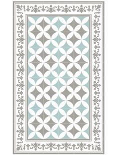 Die dekorative Vinylmatte Sofi von Beija Flor ist in schönen, frischen Farben bedruckt.