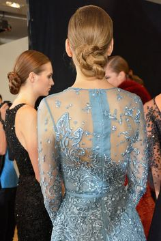 Fashion Shows - Fashion Week, Runway, Designer Collections Haute Couture Paris, Elie Saab Fall, Couture Details, Hair Updo, Prom Dresses, Formal Dresses, Designer Collection, Glitters, Backstage