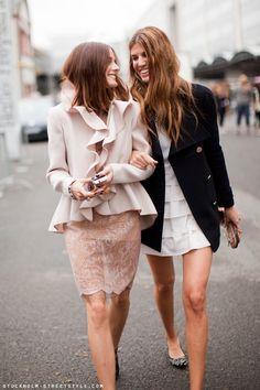 Street Chic.....Olivia Palermo and Bianca Brandolini