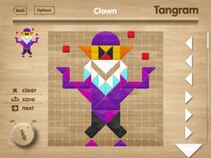 Tangram Puzzles, child iPad application by Visualizers