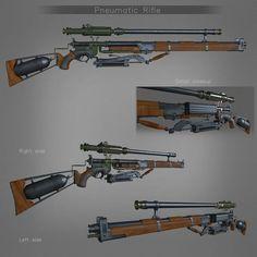 ArtStation - The Order 1895 Pneumatic Rifle, by Mihajlo Kocevski