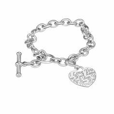 Heart charm charm bracelets and my heart on pinterest