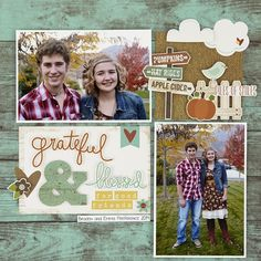 Guiseppa Gubler's layout using Pumpkin Spice collection by Simple Stories.