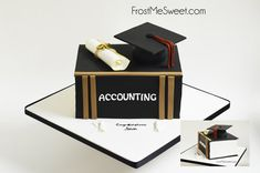 Accountant accounting graduation cake by Frost Me Sweet