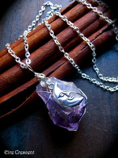 Amethyst Moon Necklace by EireCrescent on Etsy, $24.99