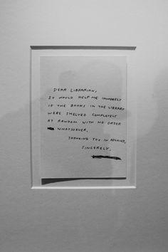 David Shrigley (1997) Dear Librarian
