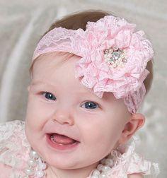 BEBÉ AMOUR Hot venta de bebé Cinta de cabeza, vendas de la flor no ...