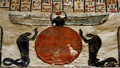 UFO Sightings Hotspot: Winged Sun Disk Shrine Found Inside 1 of 42 New Tombs Discovered In Egypt Ancient Egypt Art, Ancient Aliens, Ancient History, Egyptian Beetle, Egyptian Art, Egyptian Symbols, Unexplained Mysteries, Ancient Mysteries, Sun Worship