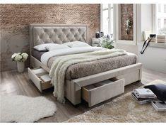 Manželská posteľ 180 cm - Tempo Kondela - Orea (s roštom) (sivohnedá)