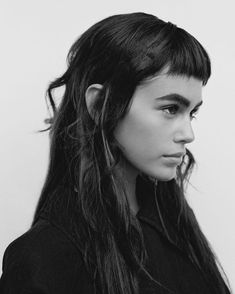 mughler: Miu Miu On My Mind (Love Magazine) Mod's Hair, Hair Day, Gerbera, Kaia Gerber Model, Spring Hairstyles, Cool Hairstyles, Portrait Inspiration, Hair Inspiration, Mullet Hairstyle