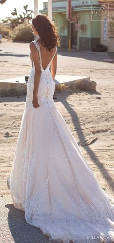 Milla Nova Wedding Dresses 2019 - Belle The Magazine Milla Nova Wedding Dresses 2019 - California Dream Collection - Luna Amazing Wedding Dress, Dream Wedding Dresses, Bridal Dresses, Wedding Gowns, Golden State, Sheath Wedding Gown, Fishtail Dress, Wedding Dress Gallery, Sophisticated Bride
