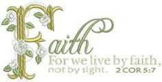 Faith Not By Sight 6x10