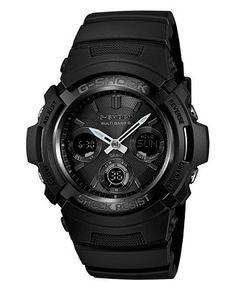 G-Shock Men's Analog Digital Black Resin Strap Watch 52x46mm AWGM100B-1A