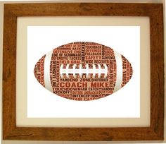 Personalised American Football Word Art Gift by ArtyAlphabet, £10.00