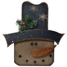 Winston Snowman Sign Plaque Country Winter Decor $26.99