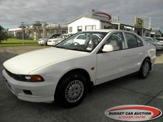 Mitsubishi Galant  For Sale  $3,500.00    Year:   1997  Manufacturer:   Mitsubishi  Model:   Galant   Engine:   1997  Fuel Type:   Petrol  Transmission:   Automatic  Mileage:   198200 km  Exterior Colour:   White  Doors:   4  Body Style:   Sedan  Stock #:   8223    Features:  ABS, Central Locking, Power Windows, Power Steering