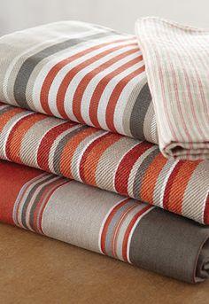 The Designer Insider: Schumacher's New Stripes! Ticking Fabric, Ticking Stripe, Textile Design, Fabric Design, Fabric Art, Weaving Patterns, Fabric Patterns, Textiles, Tribal Patterns