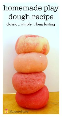 Perfect! An easy homemade play dough recipe