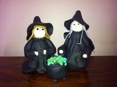 Halloween Witch in Fimo | Polymer Clay Witch Tutorial | Simple Crafts