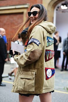 Take inspiration from the streets and update your military jacket with patches. www.stylestaples.com.au
