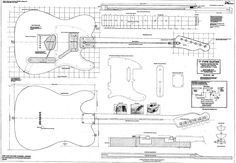 Full+size+plan+to+build+a+Telecaster+by+JohnAnthonyGuitars+on+Etsy,+£9.99
