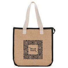 Jute Insulated Grocery Tote A twist on your typical grocery tote. Your brand will stand out with this jute insulated tote. Consider using as your swag bag.