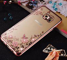Rose Gold Shockproof Soft Gel Bling Case Bumper Cover for Samsung Galaxy phones #UnbrandedGeneric