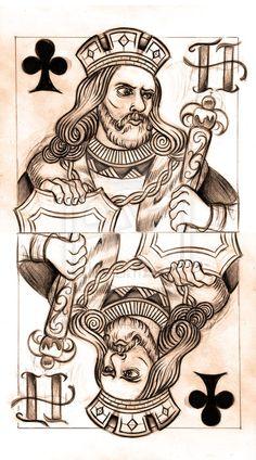 King of Clubs sketch by WillemXSM.deviantart.com on @DeviantArt