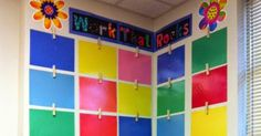 Mind Sparks: Monday Made It -- Easy Display Wall!
