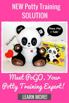 Potty Training just became 20X easier! PoGO is a talking stuffed panda who independently potty trains your kids with encouraging phrases. Potty training can now be a breeze!