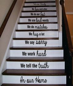 In Our Home Version 3 Stairs Decor Decal Sticker Wall Vinyl Art