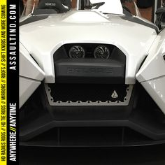 Polaris Slingshot front grill. Protect your radiator in style. www.assaultind.com ! #Polaris #polarisslingshot #slingshot #trike #powersports #motorcycle #motorsports