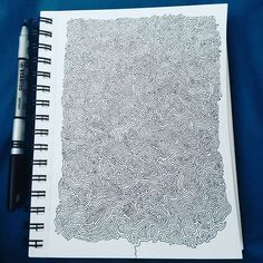 Just 1 long continuous line. #trippy #design #artwork #doodle #psychedelic #pen #art #linedrawing