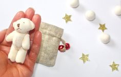 Image of Mini teddy in a bag gift set