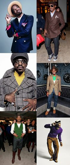 Incredible style! Andre Benjamin (aka Andre 3000), Style Icon ~ collaged by #PurelyInspiration