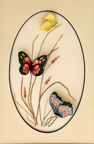 Luan B. Callery A Trio of Butterflies - a Stumpwork Embroidery