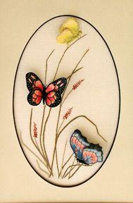 Luan B. Callery A Trio of Butterflies - a Stumpwork Embroidery
