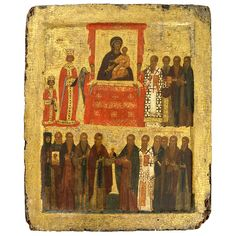 Icon of Triumph of Orthodoxy, Constantinople (modern Istanbul, Turkey), Byzantine, about AD 1400