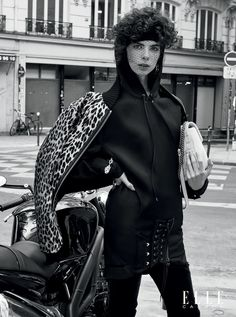 by Arkan Zakharov for Elle Canada October 2016 Harley Davidson, Visit Canada, Anthony Vaccarello, Koh Tao, Ford Models, Canada Travel, New Wave, 80s Fashion, Punk Rock