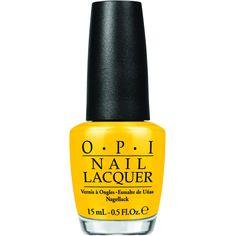 OPI Peanuts Collection Good Grief Nail Polish (SRFA4) ($5.89) ❤ liked on Polyvore featuring beauty products, nail care, nail polish, nails, beauty, makeup, accessories, yellow, opi nail care and shiny nail polish